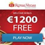 Royal Vegas Casino 400% up to €1200 bonus + 100 free play spins