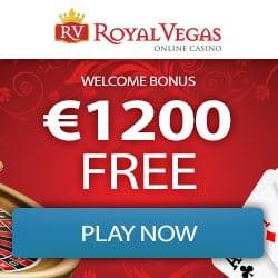 Royal Vegas Casino 400% up to €1,200 bonus + 100 free play spins