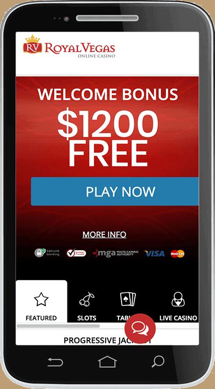 Royal Vegas Casino $1200 free bonus and 120 gratis spins
