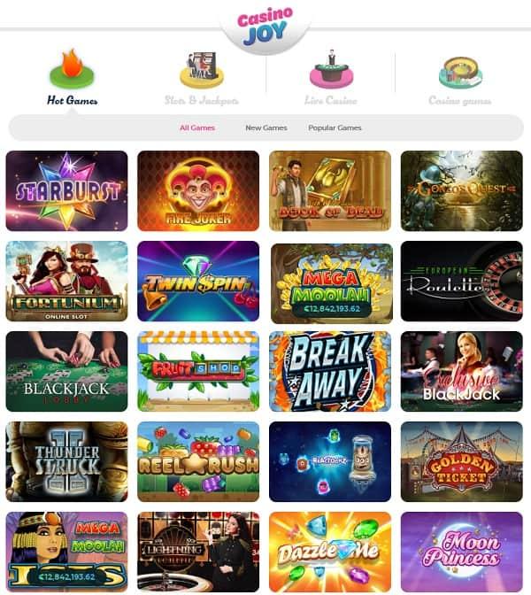 Casino Joy free spins bonus