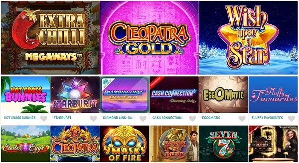Games, Slots, Promotions