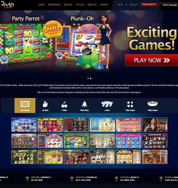24VIP Casino Online Bonus Codes