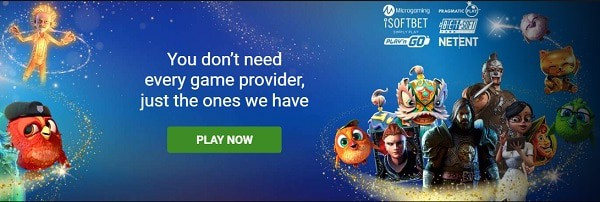 GOWILD Casino games and software providers