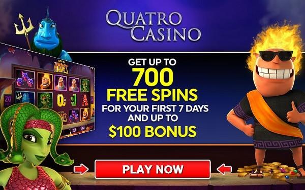 Quatro Casino 700 free rounds