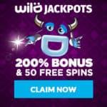 Is Wild Jackpots Casino legit? Get 200% bonus and 50 free spins!