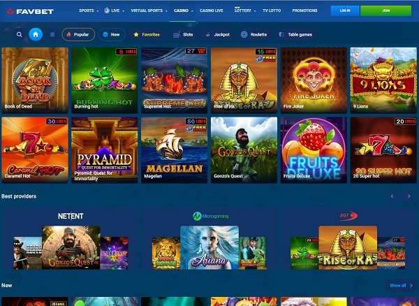 Fav Bet Casino Review