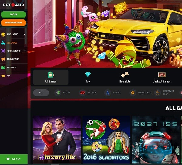 Betamo Casino Review - free spins and free money on register!