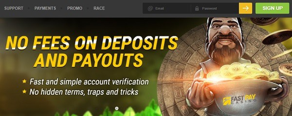 Fast deposits and cashouts at online casino