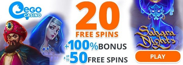 20 free spins bonus for new players