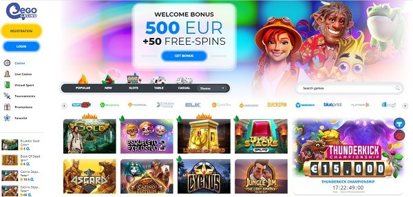 Ego Casino Online and Mobile