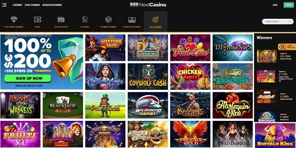 Next Casino Online Review