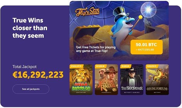 TrueFlip.io Welcome Bonus and Free Play Games