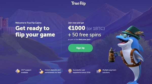 1.000 EUR and 50 Free Spins