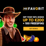 Mr Favorit Casino 100 free spins + 100% bonus + €200 gratis