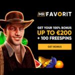 Mr Favorit Casino 100 free spins + 100% bonus + €200 gratis