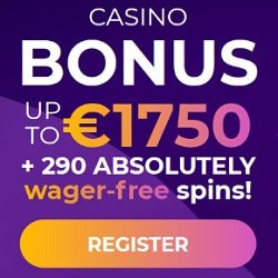 290 free spins in welcome bonus - no wagering conditions!