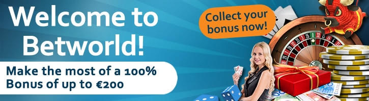 100% bonus up to 200 EUR (Casino) or 100 EUR (Sportsbook)