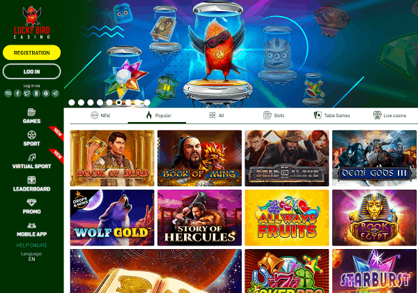 About Lucky Bird Casino Online Slots