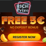 Rich Prize Casino 5€ no deposit and 25 free spins on jackpot