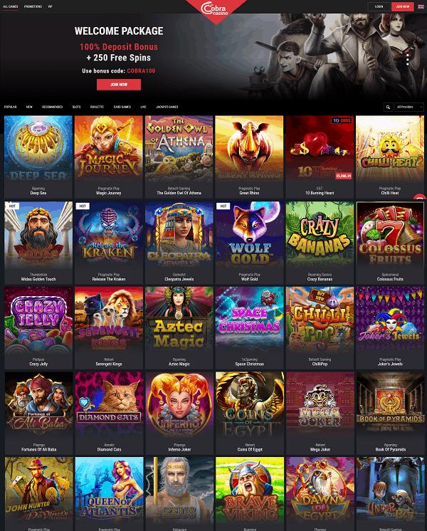 Cobra Gaming Free Spins Bonus Review