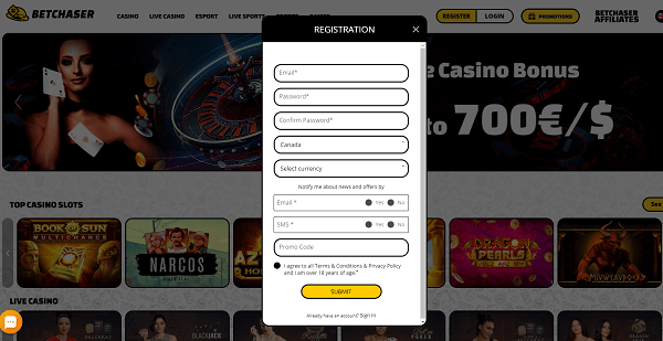 Open your account for free and start playing with us