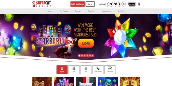 Play the best slots at SuperCat Casino!