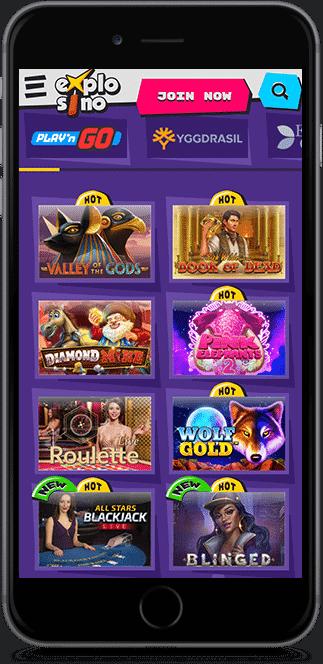 Explosino Casino Mobile Games