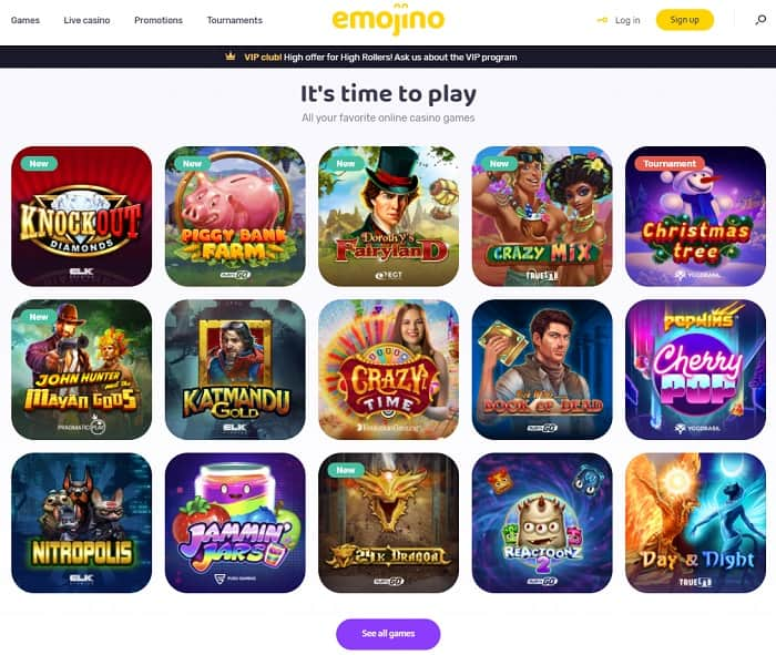 Emojino Games and Free Spins