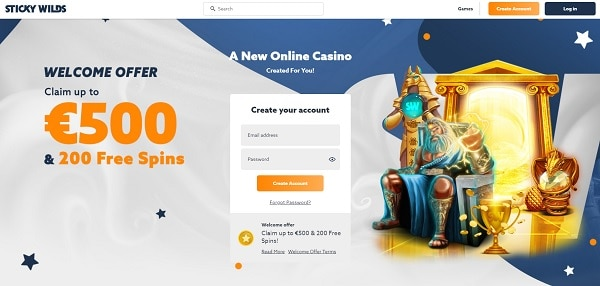 Create your account to receive welcome bonus!