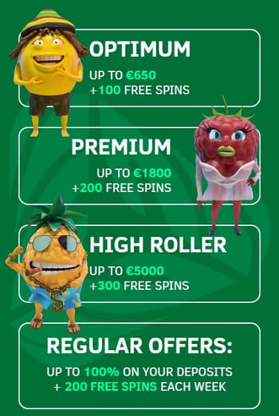 Greenspin Casino High Roller Bonus