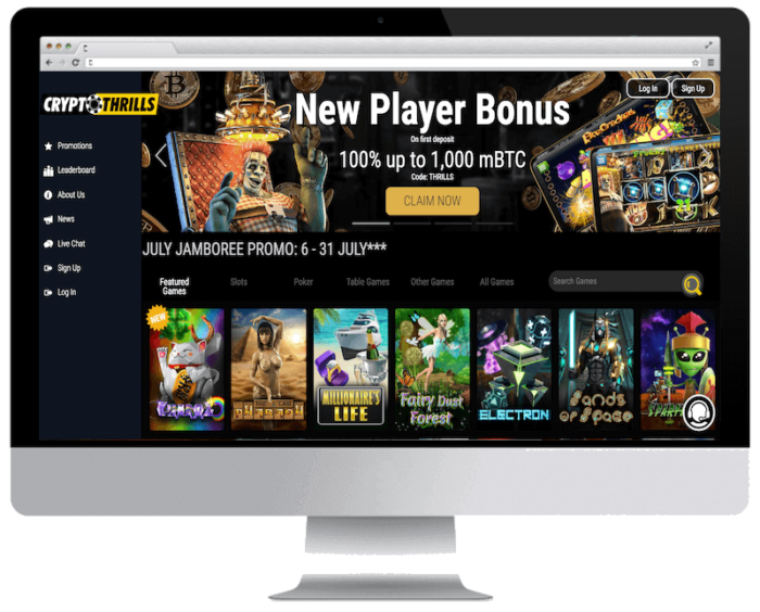 Crypto Thrill Casino 50 free spins