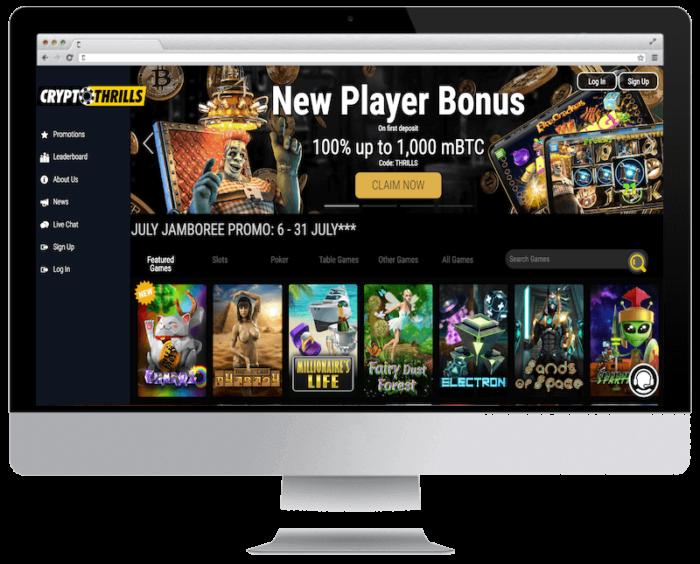 Crypto Thrill Casino 50 free spins