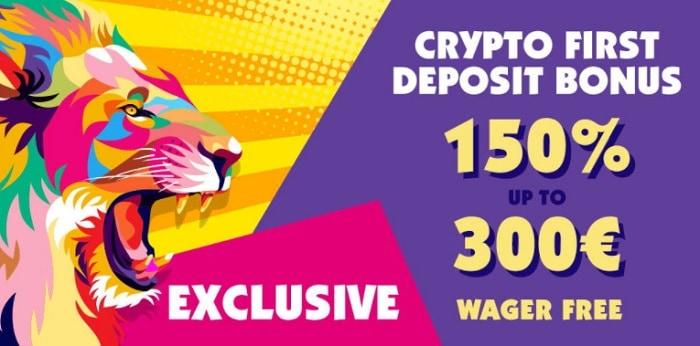 150% Crypto Bonus