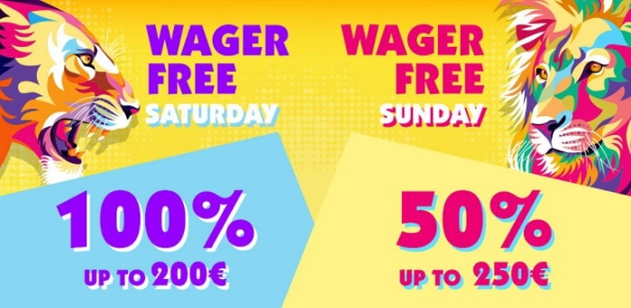 Wager-Free Saturday and Sunday