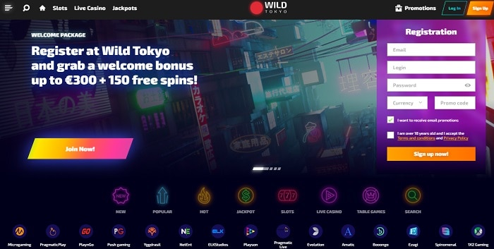 300 EUR and 150 free spins on registration