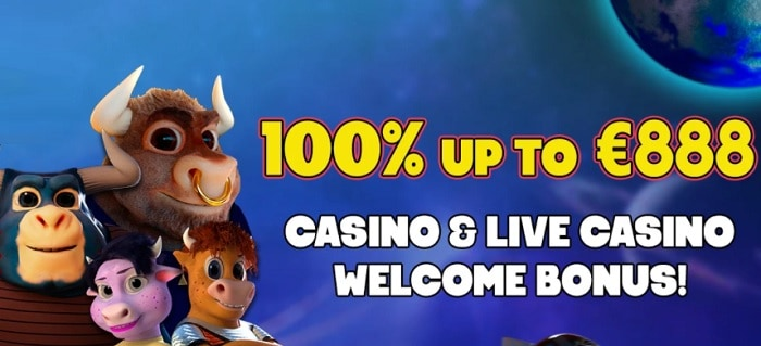 100% welcome bonus and free spins