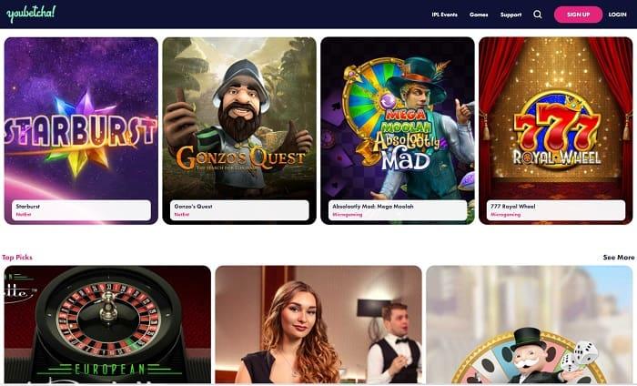 YouBetcha Bitcoin Casino