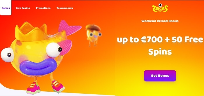 Get 700 euro and 50 free spins!