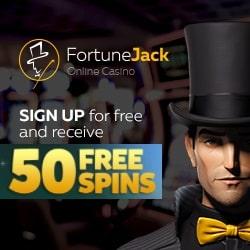 FortuneJack Casino banner 50 FS